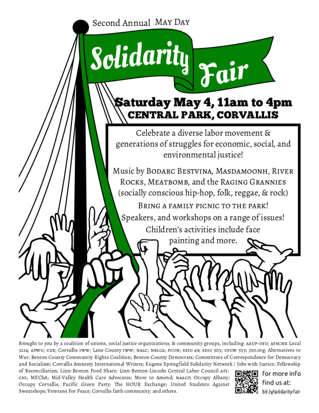 2nd Annual May Day Solidarity Fair