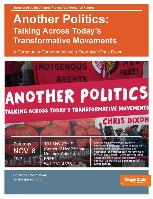 Chris Dixon to speak in Corvallis